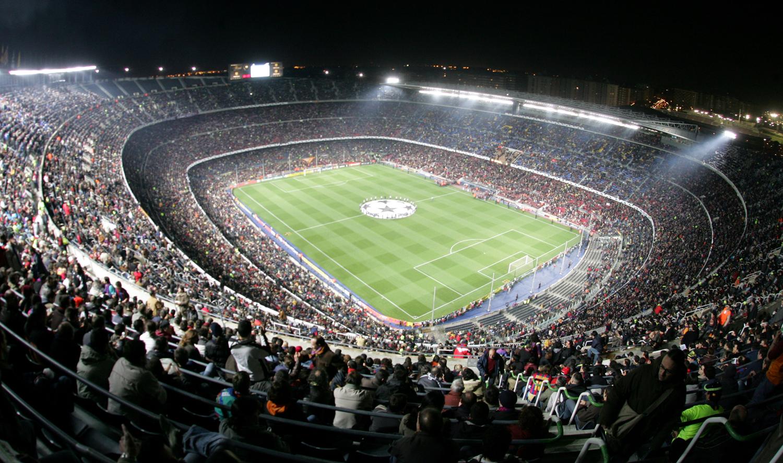 Camp Nou adalah stadion sepakbola di Barcelona Catalonia Spanyol 1500x887