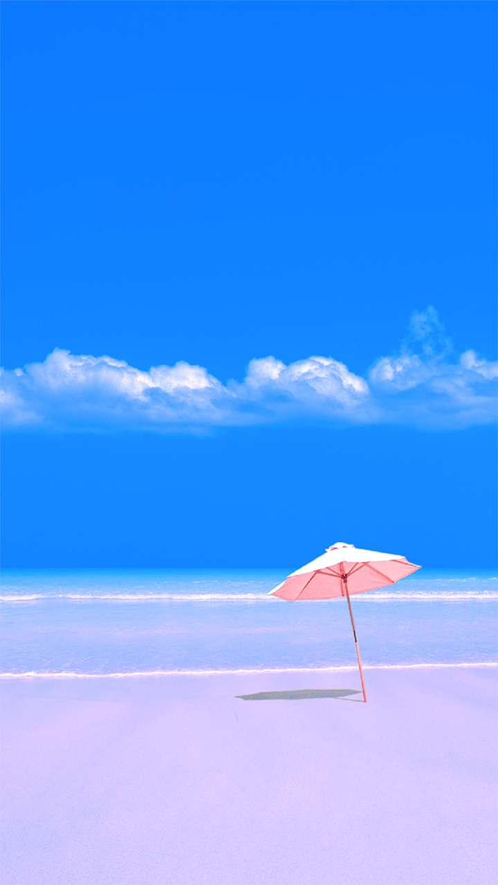Wallpaper Phone Beach Umbrella Wallpaper Samsung 720x1280