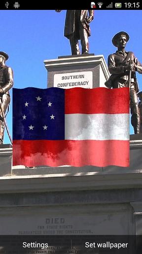 View bigger   Confederate Flag 3D Wallpaper for Android screenshot 288x512