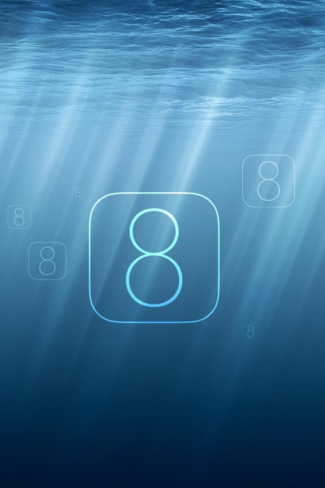 Undersea iOS 8 iPhone 4s Wallpaper Download iPhone Wallpapers iPad 640x960