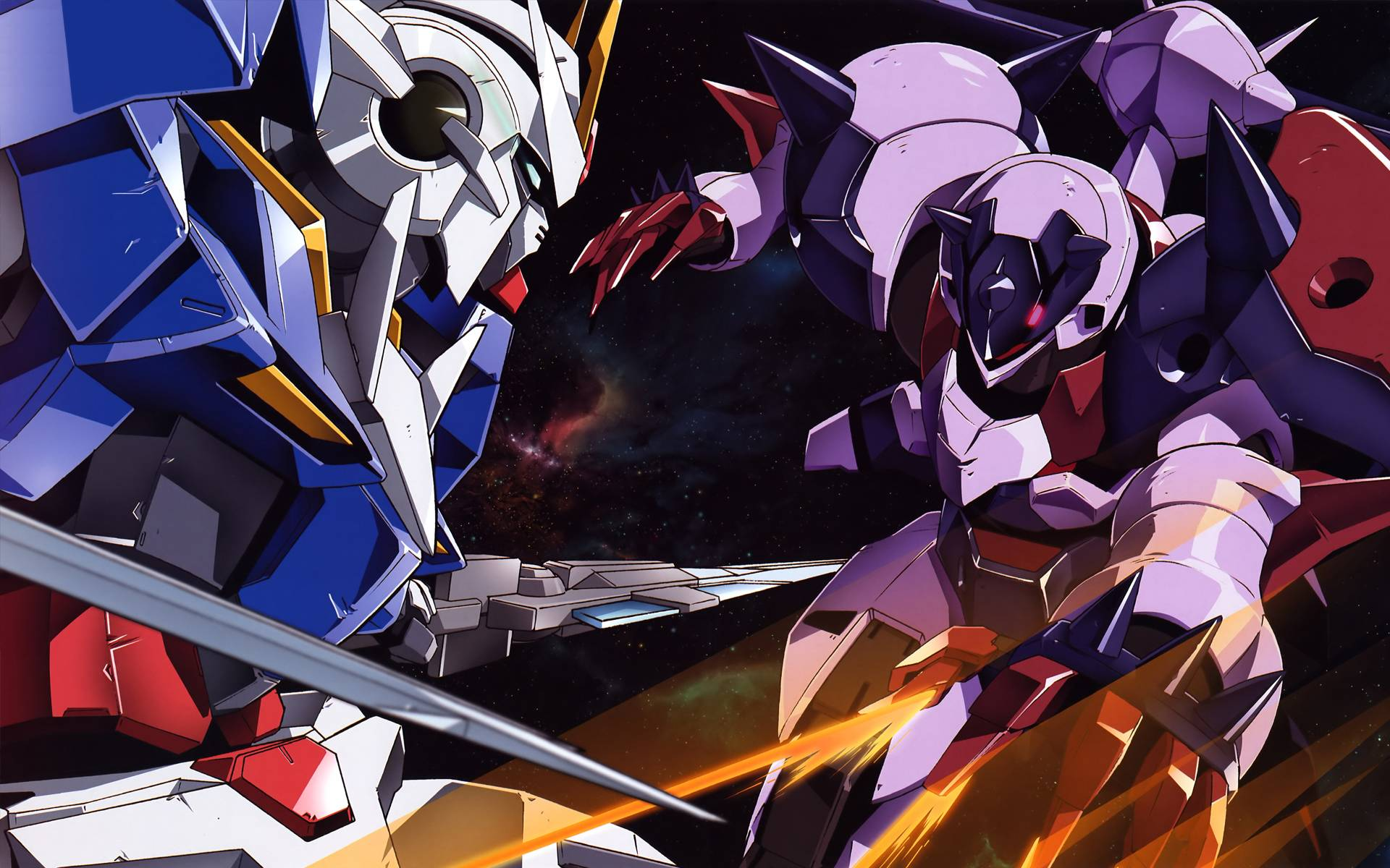 gundam exia fights   Gundam 00 Wallpaper 1920x1200