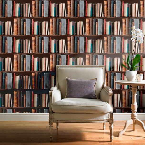 Looks Like Bookshelves Wallpaper That Looks Like Books On A Shelf 608x608