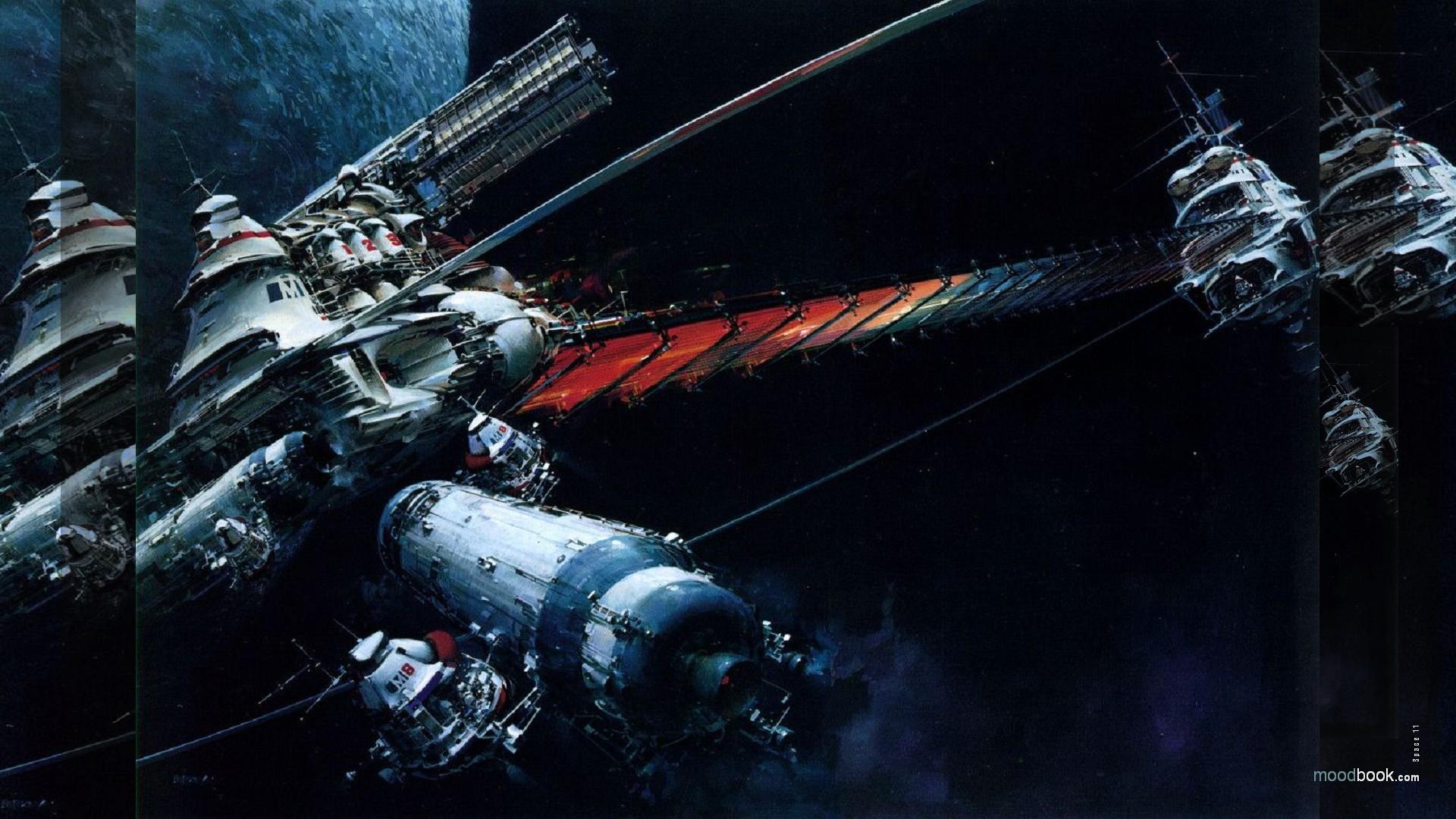 47 retro sci fi wallpaper on wallpapersafari - Vintage space wallpaper ...