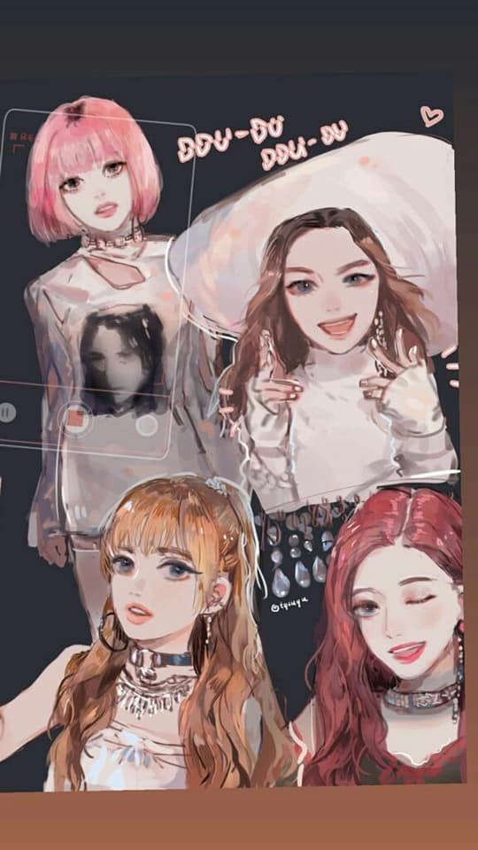 Free Download Blackpink Anime Wallpaper And Kpop Facebook