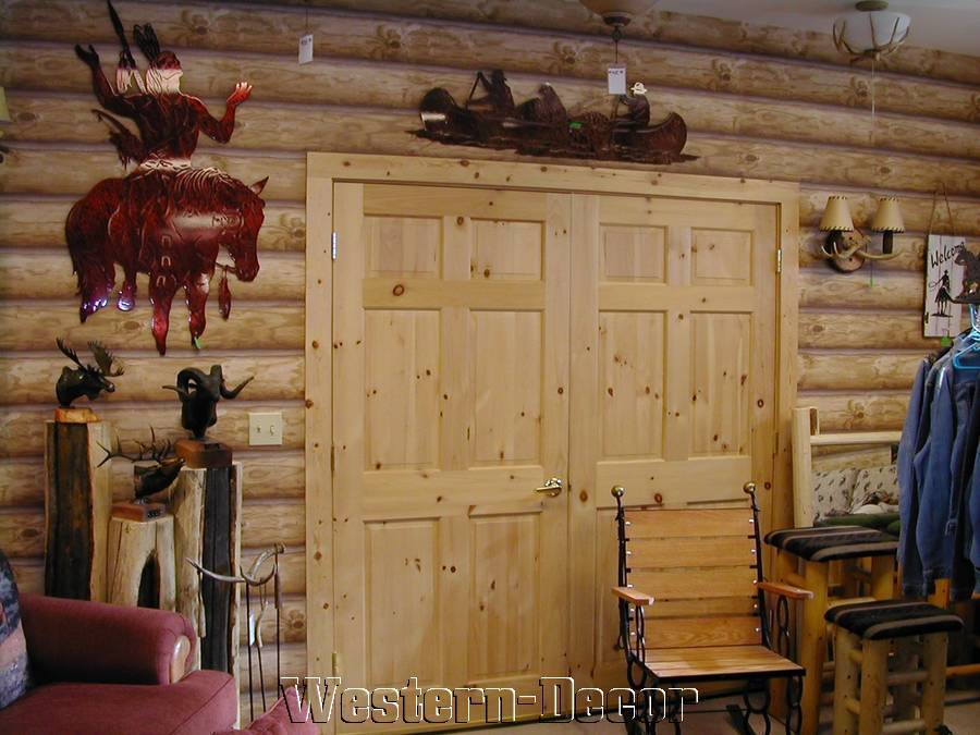 Log Cabin Wallpaper REAL LOG LOOK Rustic Wall Paper DOUBLE ROLL 900x675