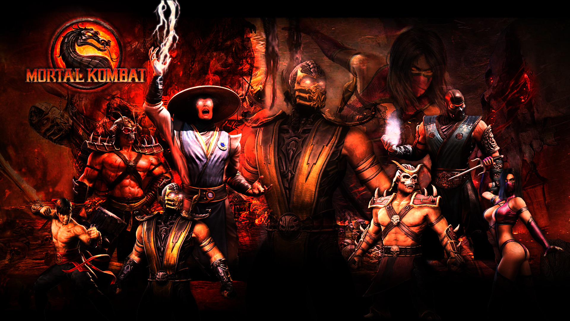 Pin Mortal Kombat 9 Wallpapers In Hd Page 4 Dragon Wallpaper on 1920x1080