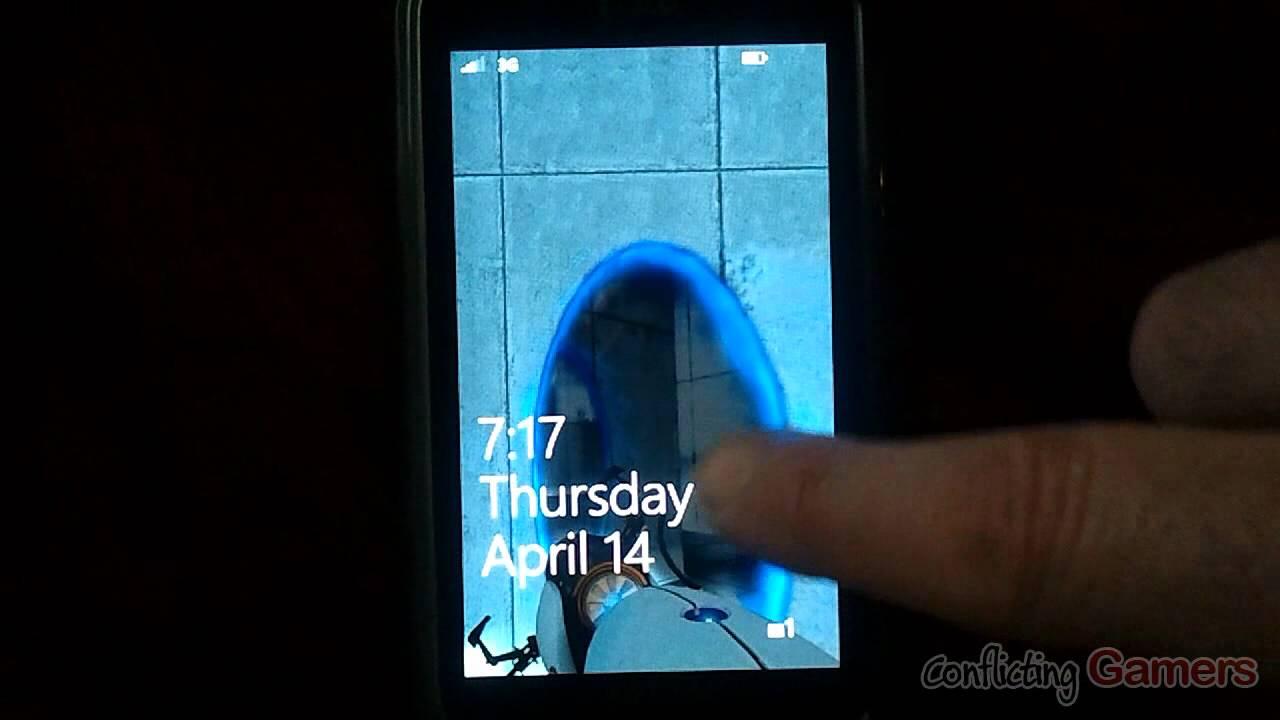 Portal 2 - Windows Phone 7 Transparent Lock Screen Wallpaper - YouTube