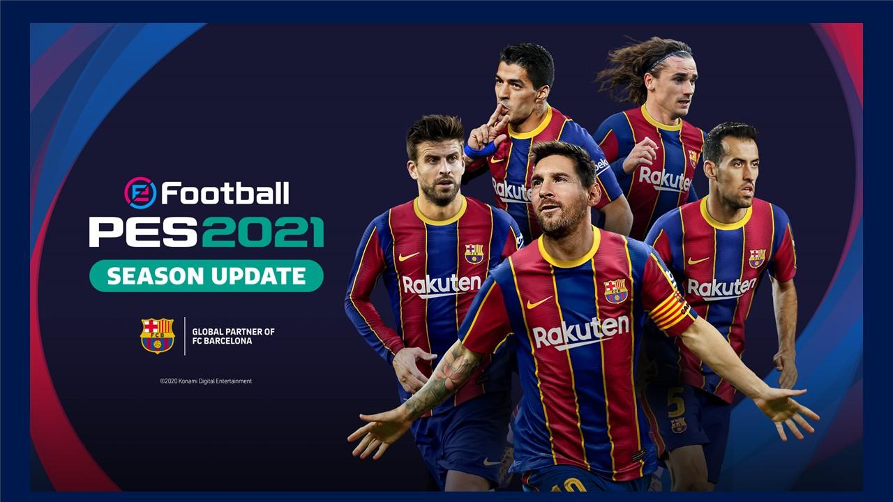 KONAMI announce eFootball PES 2021 FC Barcelona Club Edition 1280x720