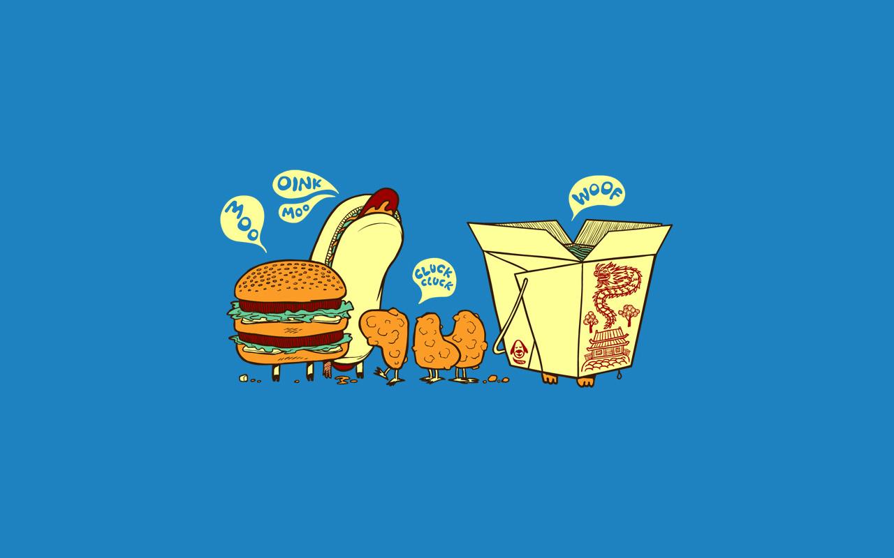 Funny Fast Food   Wallpaper 1280x800