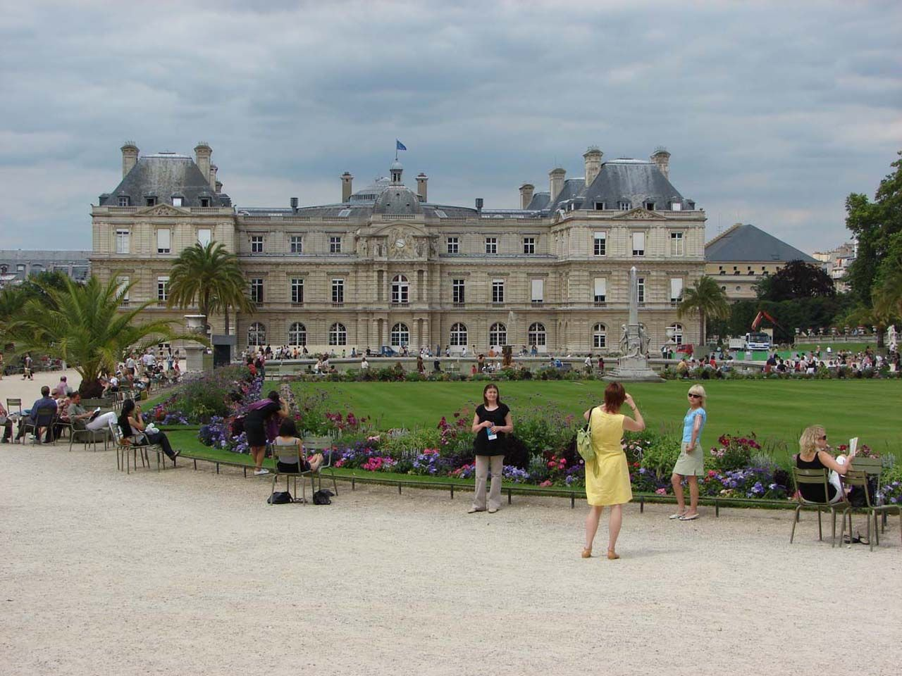 Buildings City The Luxembourg garden desktop wallpaper nr 1280x960