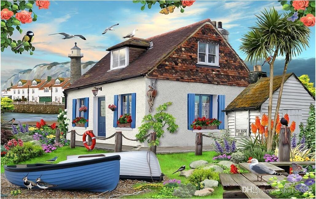 3d Wallpaper Custom Photo Summer Seaside Country Seaside Garden 1028x647