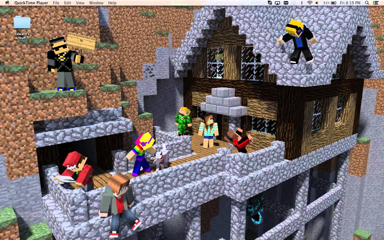 Minecraft Novaskin Wallpaper Me and my friends 1440x900