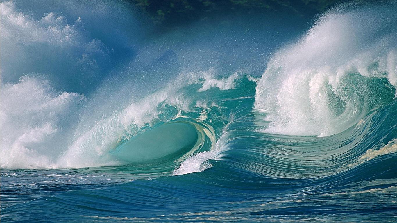 Surfing Wallpaper Ocean Beach Surf Great Waves 06 1366x768