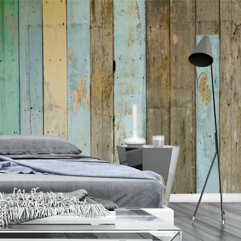 Brewster Island Grey Faux Grasscloth Wallpaper Fd23285: Distressed Wood Panel Wallpaper