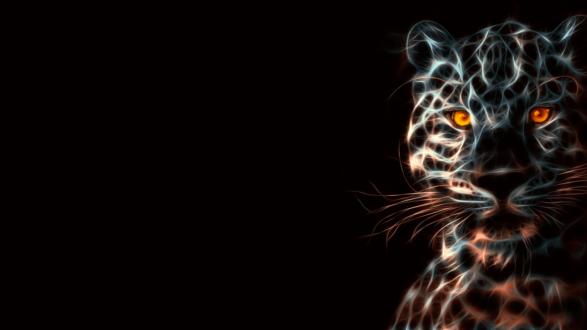 Leopard Animal Wild Art 3D HD Wallpaper   StylishHDWallpapers 1920x1080