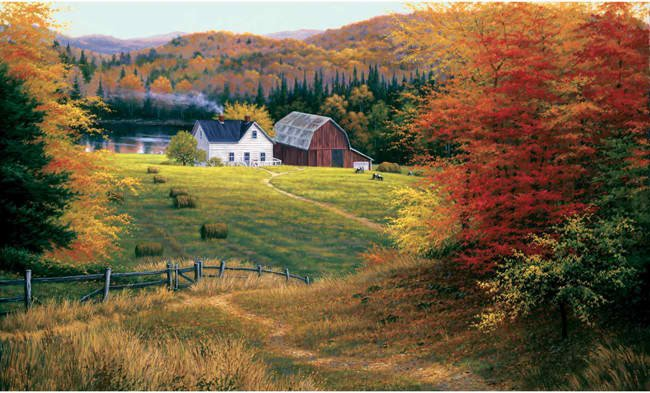 Farm Scenic Large Wall Mural   Wall Murals   InteriorPlacecom 650x393