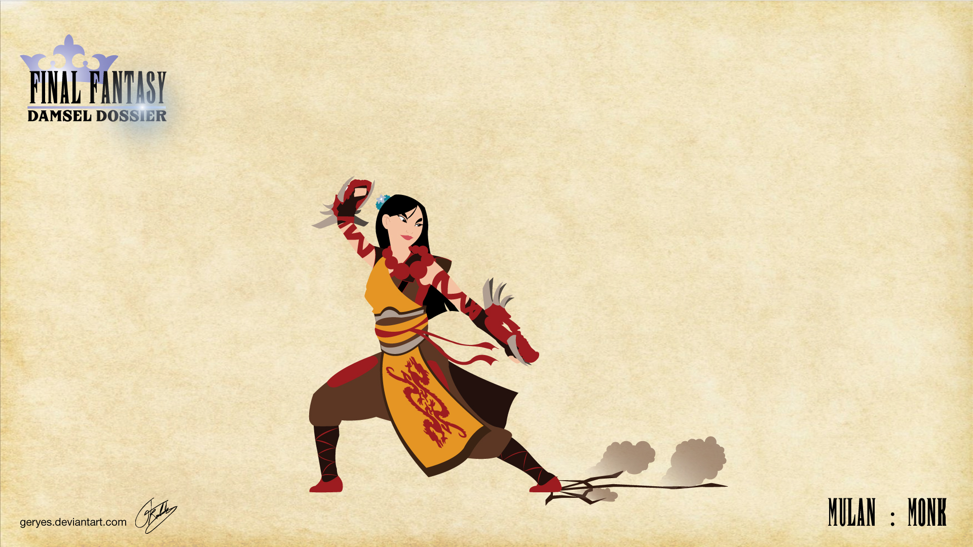 Mulan Warrio HD Wallpaper Background Images 1920x1080