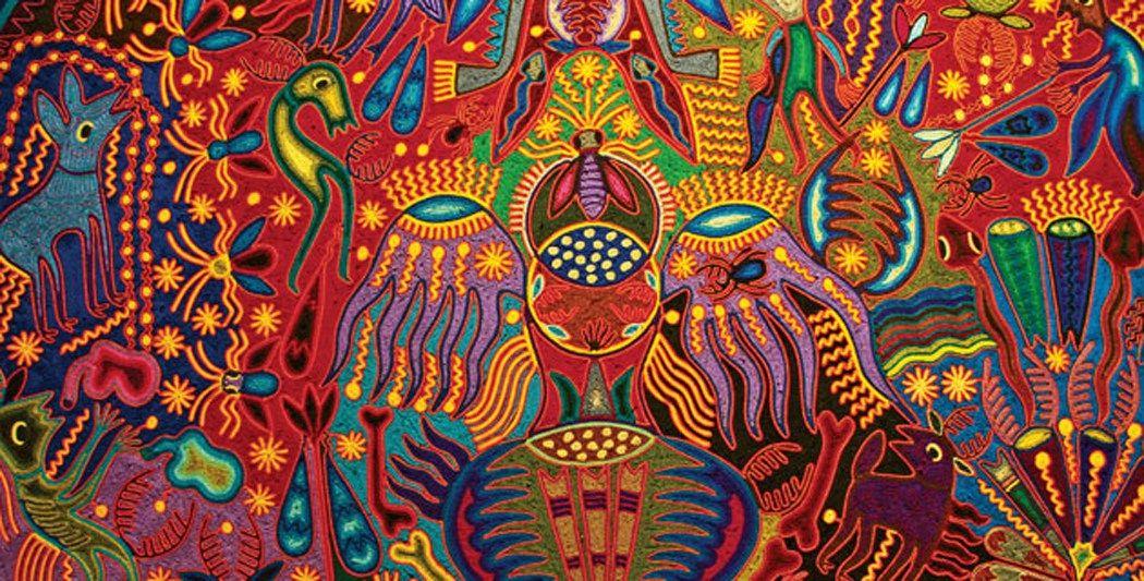 arte huichol mexico   Bsqueda de Google Psychedelic art 1050x533
