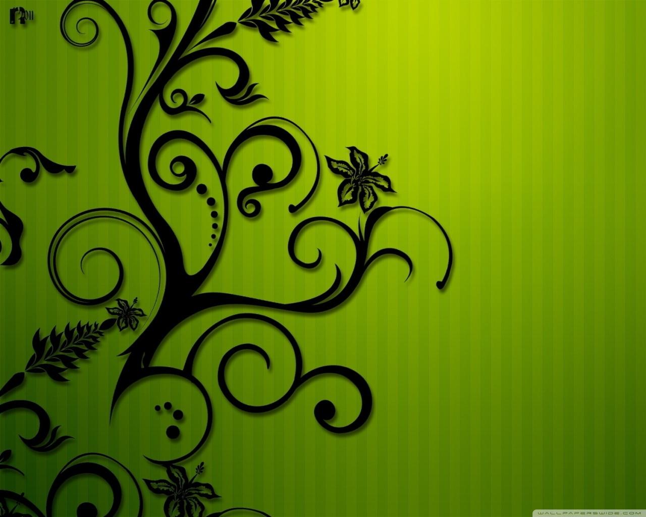 Black Swirls 4K HD Desktop Wallpaper for 4K Ultra HD TV 1280x1024