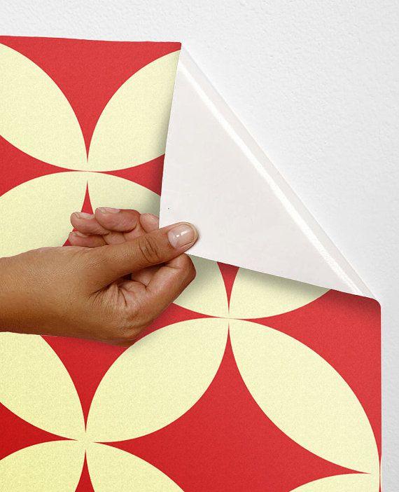 Removable self adhesive modern vinyl Wallpaper wall sticker   Circle 570x702