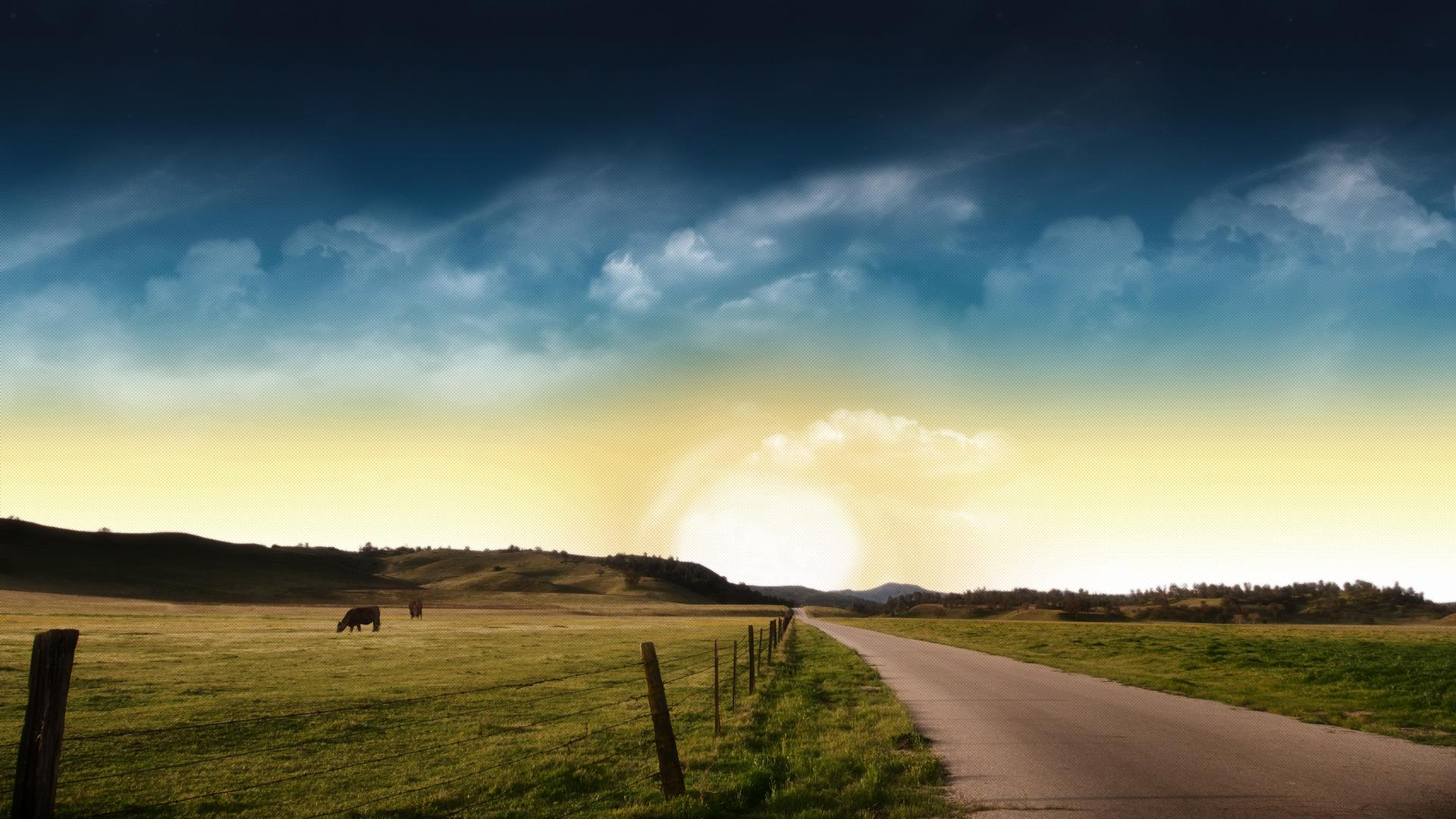 Country Road Wallpaper For Android Wallpaper WallpaperLepi 1920x1080