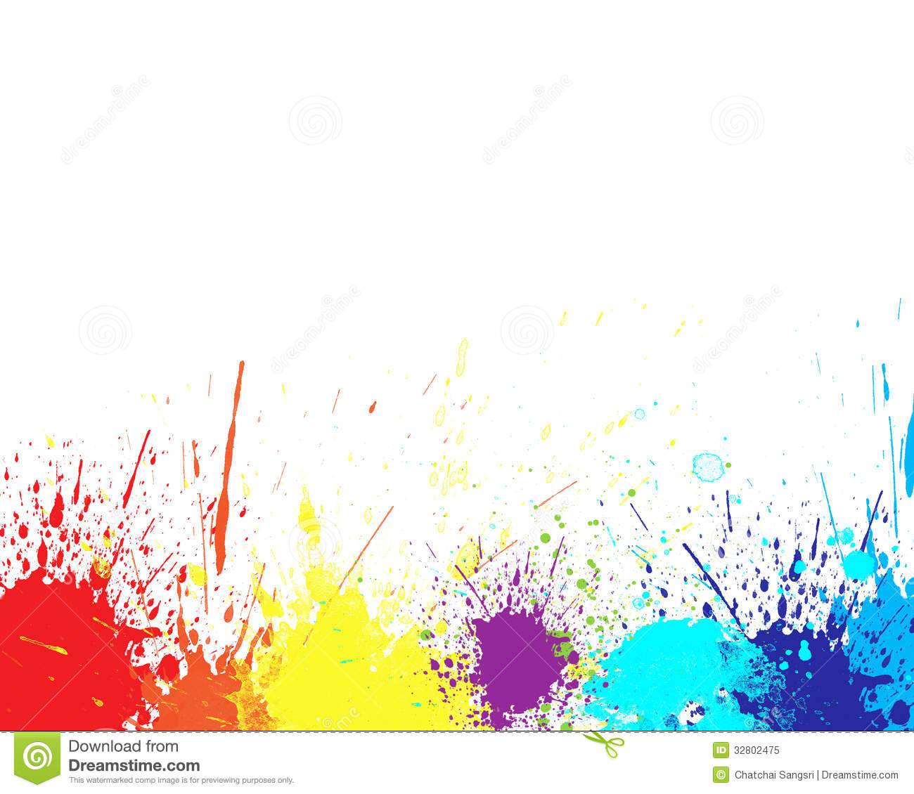 Green watercolor splashes Vector  Free Download