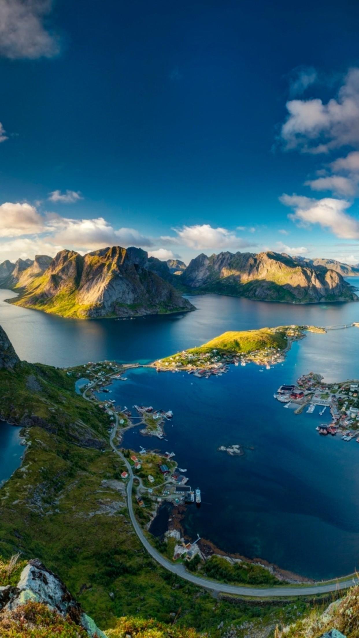 Download Wallpaper 1242x2208 Reinebringen Norway   Stunning landscape 1242x2208