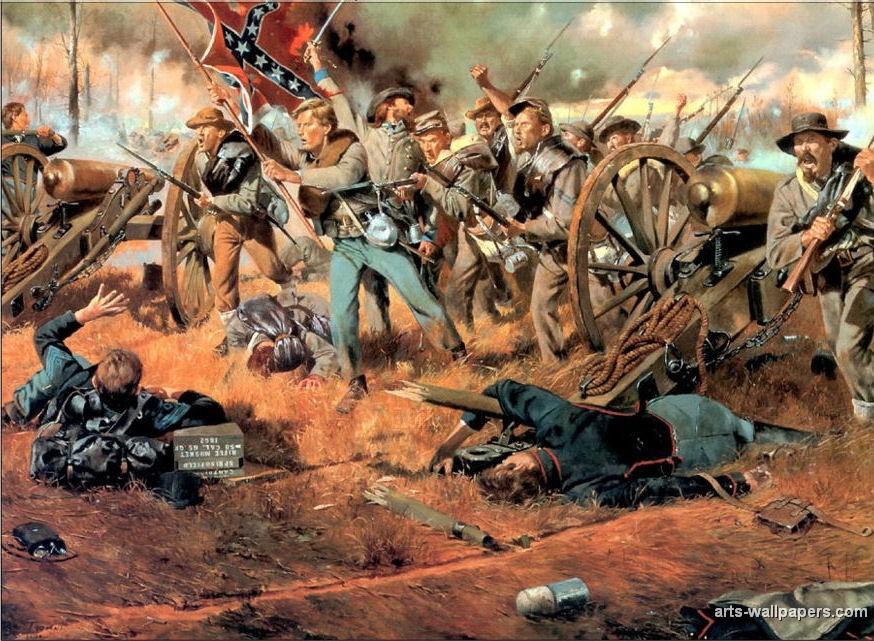 American Civil War Paintings Art Prints Gallery Pictures Artworks 874x641