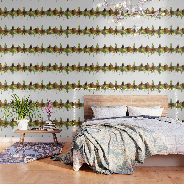 Camden New Jersey Skyline SG Safari Buff Wallpaper by 1500x1500
