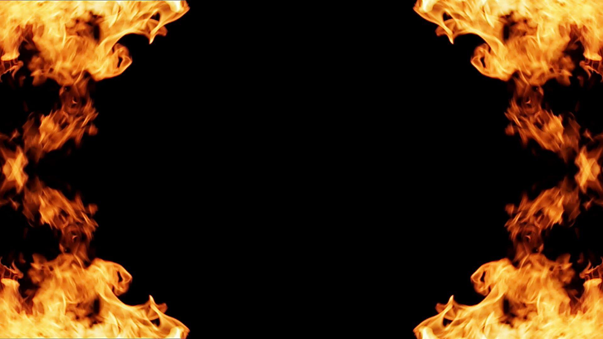 Frame of fire on black background Stock FootageblackfireFrame 1920x1080