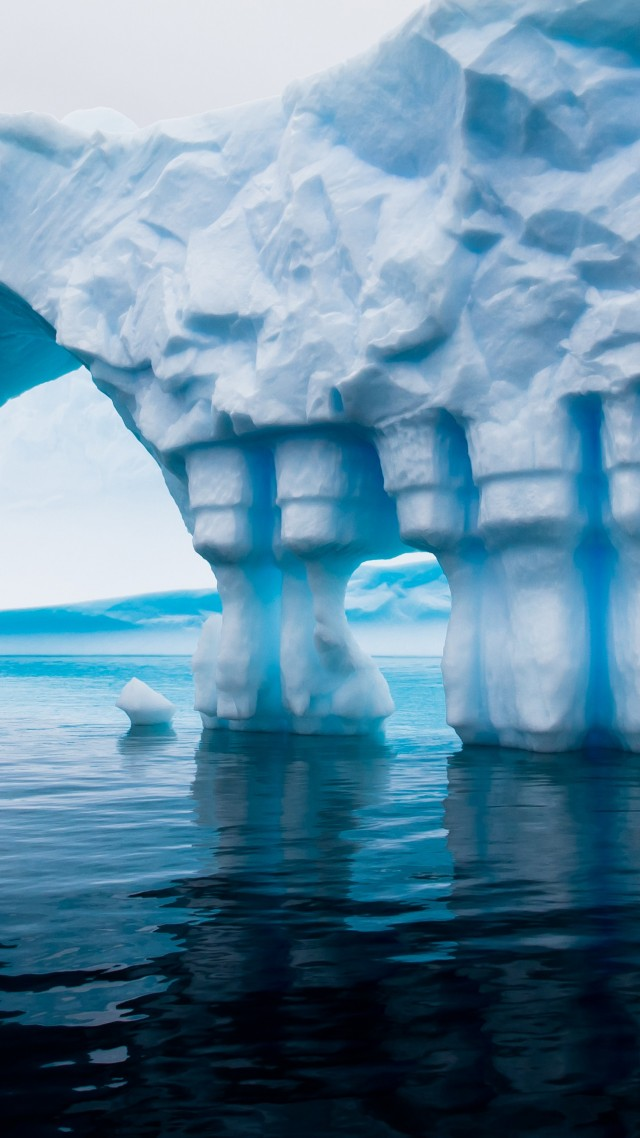 Wallpaper Antarctica 5k 4k wallpaper iceberg blue water 640x1138