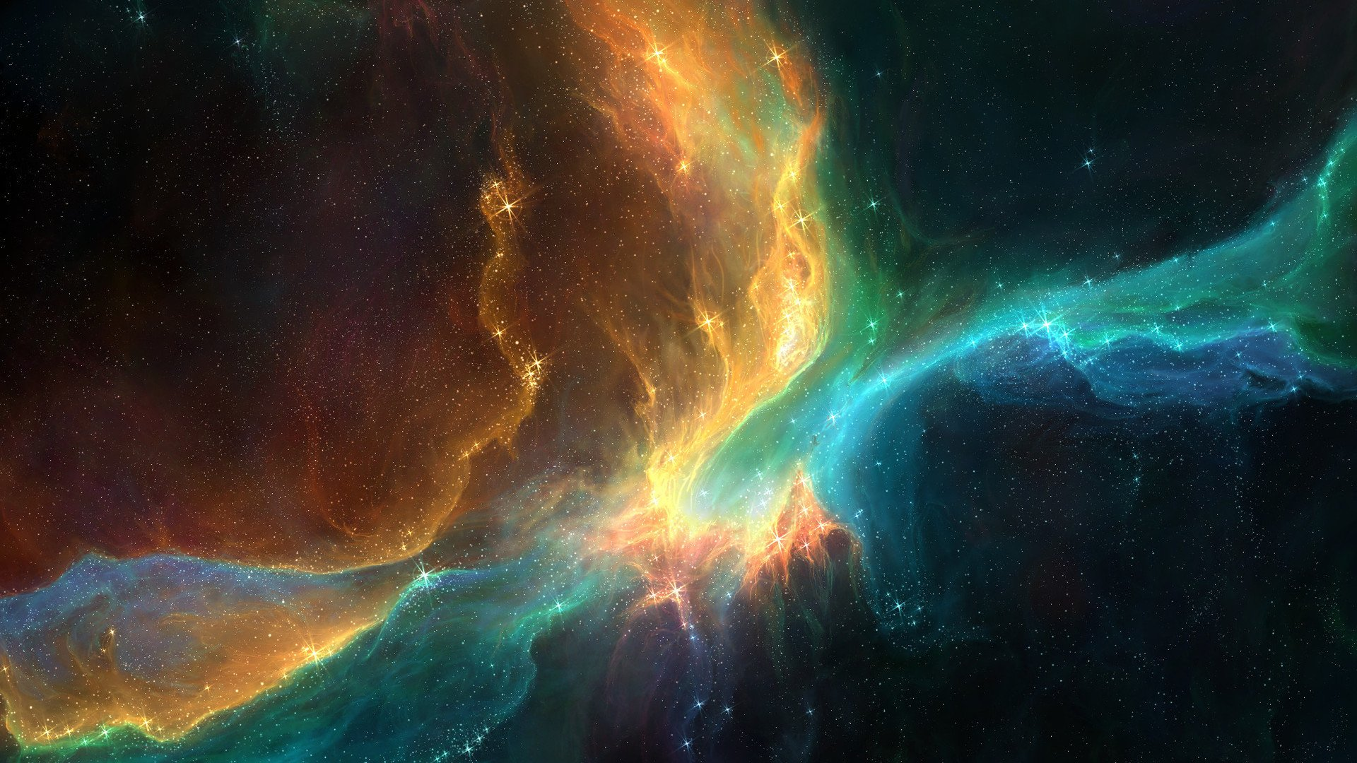 Outer Space Nebula 1920x1080