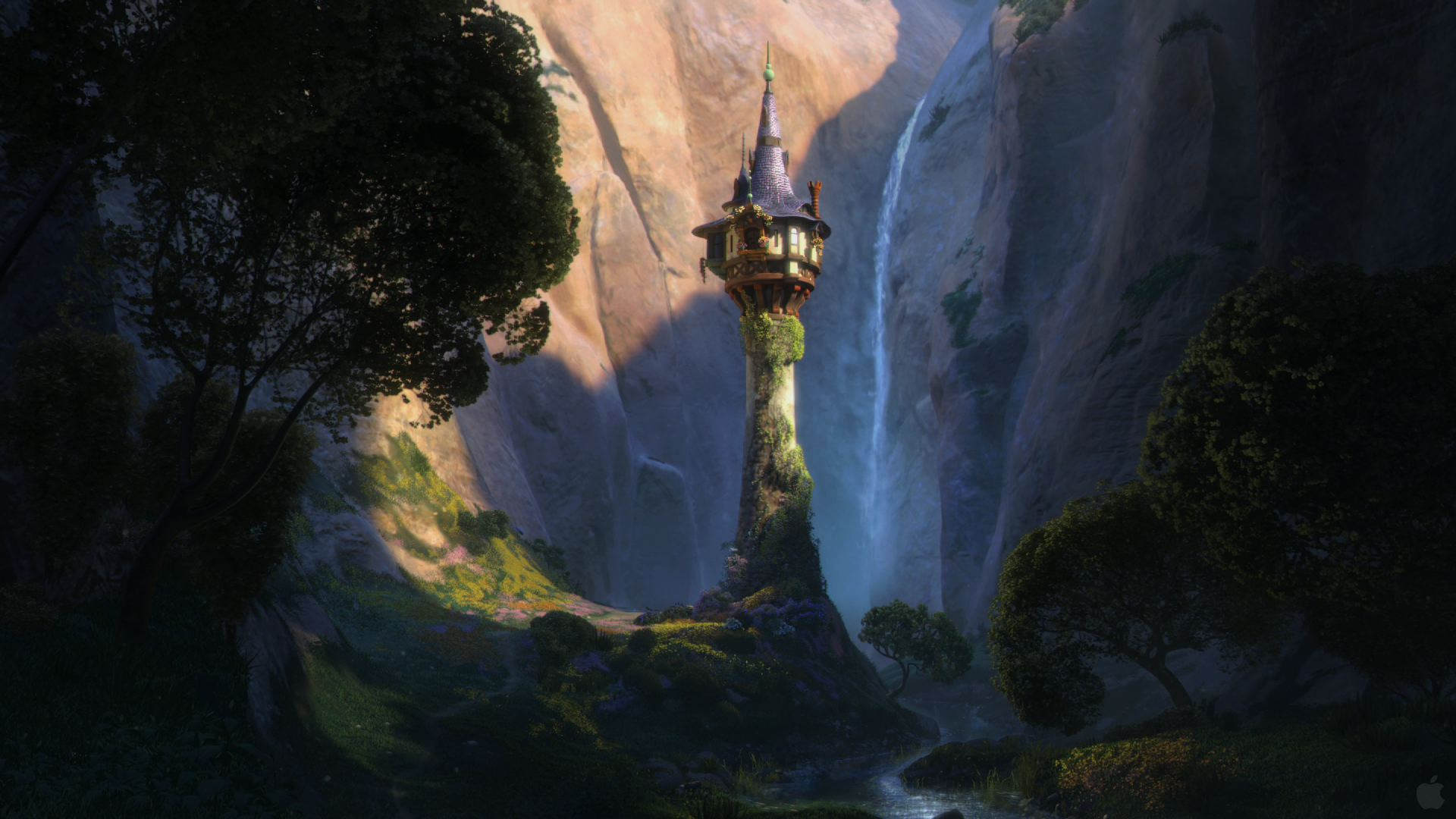 tangled tower background desktop rapunzels animated wallpaper 1920x1080
