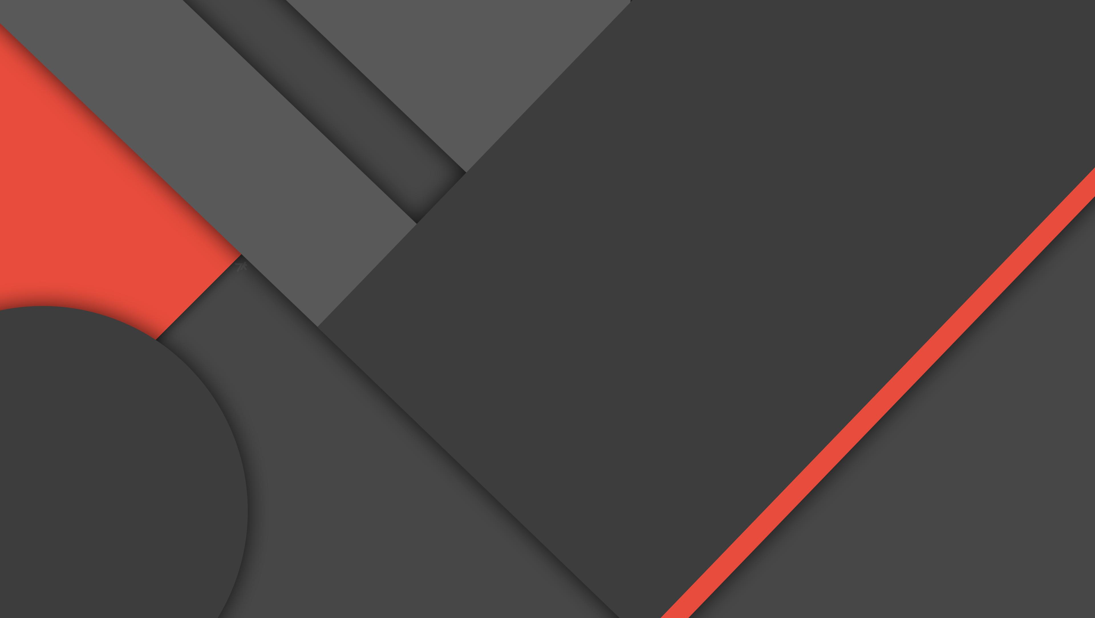 MinFlat] Dark Material Design Wallpaper 4K by DaKoder 3840x2169