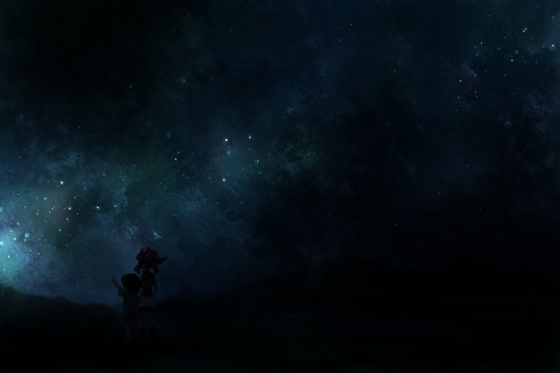Free Download Dark Cartoons Dark Stars Skyscapes 2400x1600