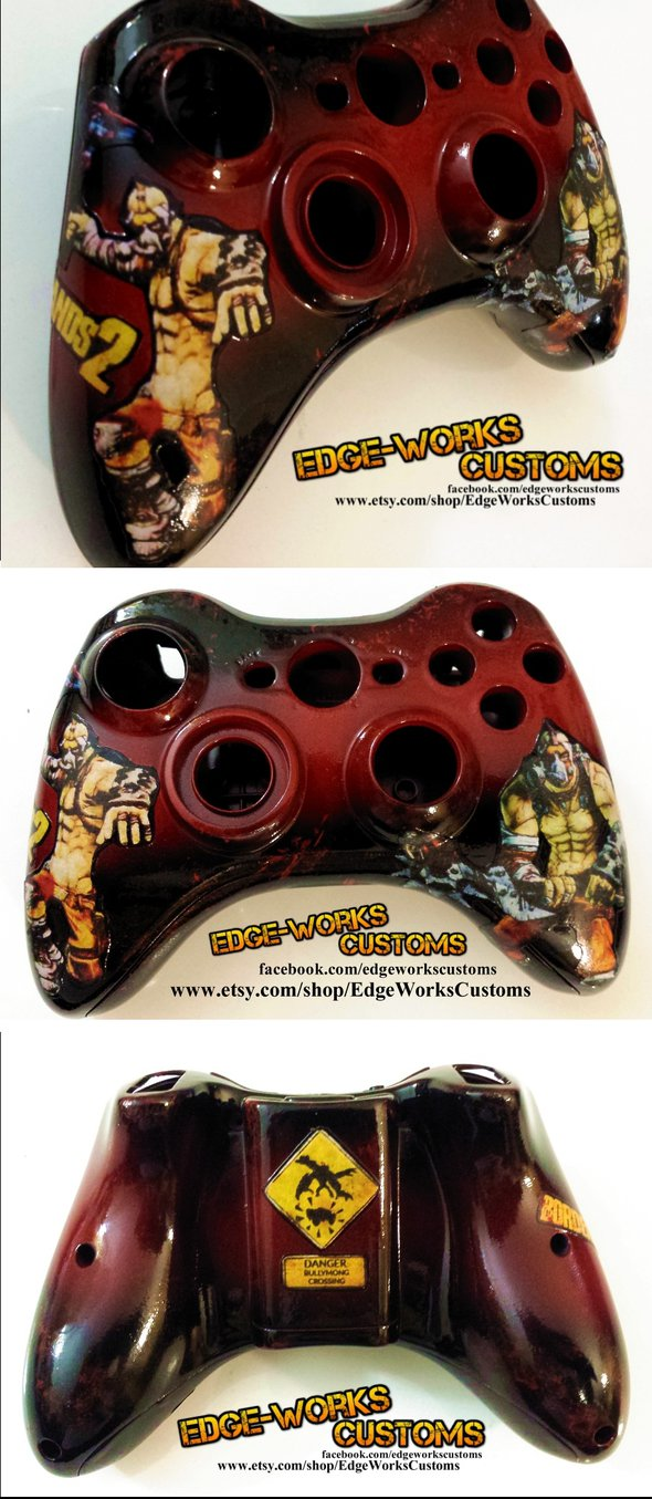Borderlands Krieg the Psycho Xbox Controller by Edge Works on 590x1355