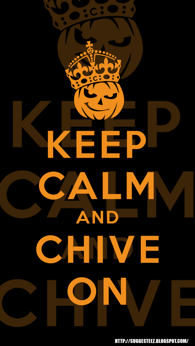 KCCO Keep Calm and Chive On Halloween iPhone 5 Wal by suggesteez 640x1136