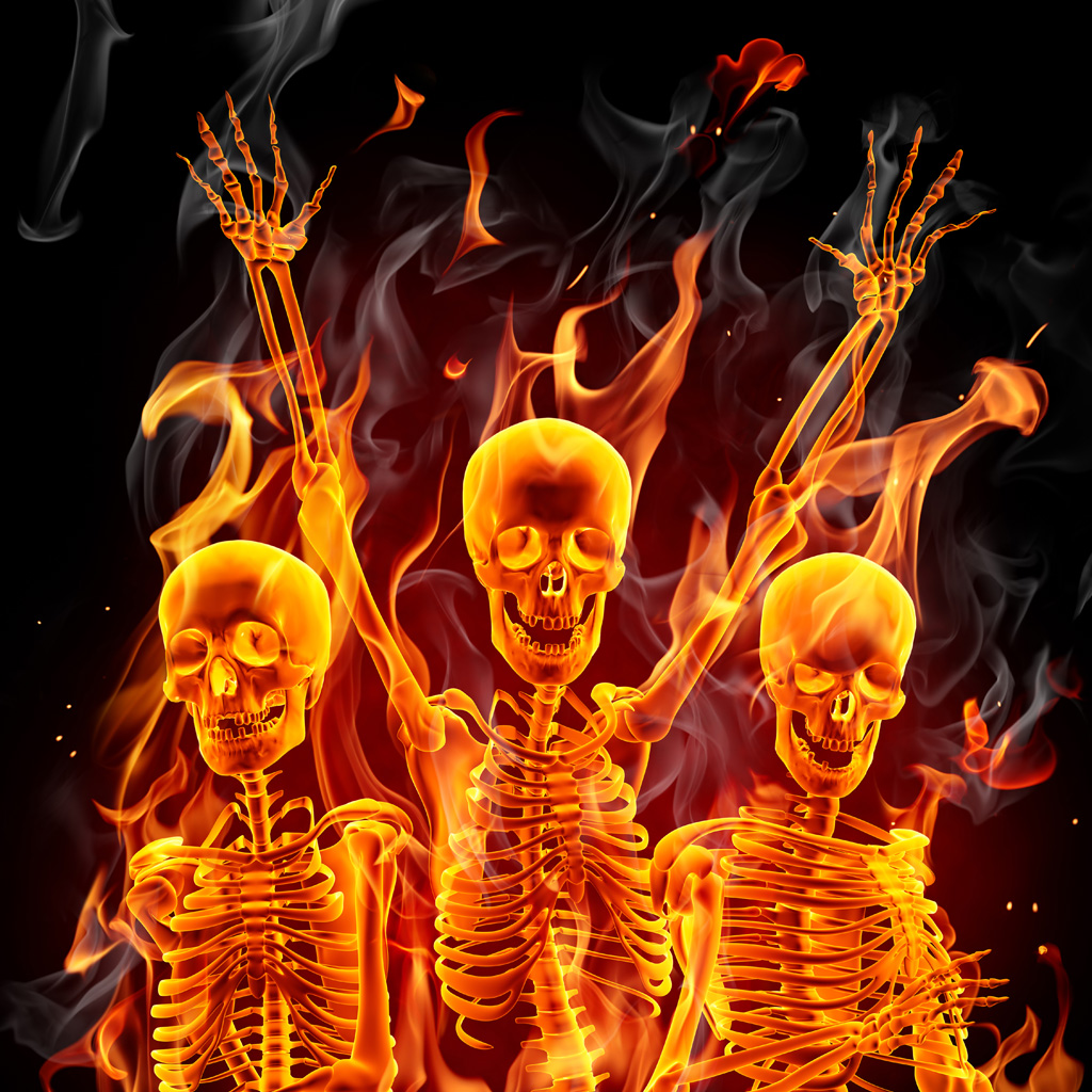 Alfa img   Showing Flaming Skeleton Wallpaper 1024x1024