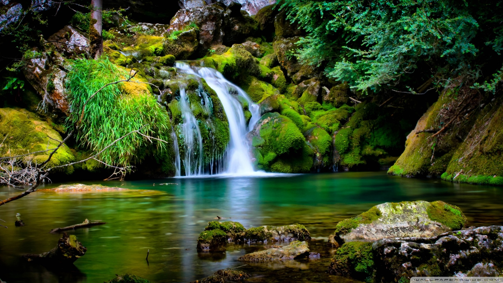 1920x1080 Waterfall Scenery wallpaper 1920x1080