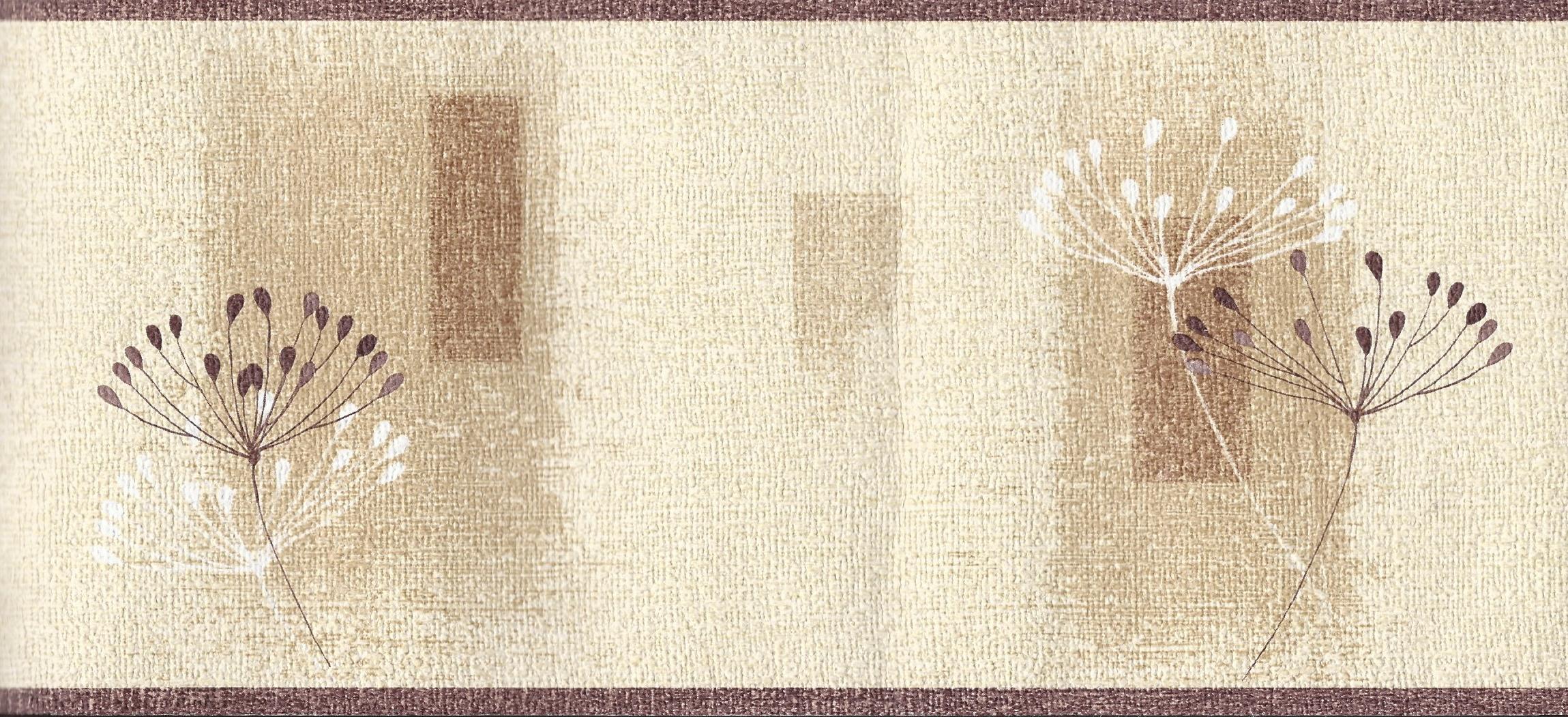 Dandelion Textured Cream Brown Border 97023 by EuroStudio 2299x1051