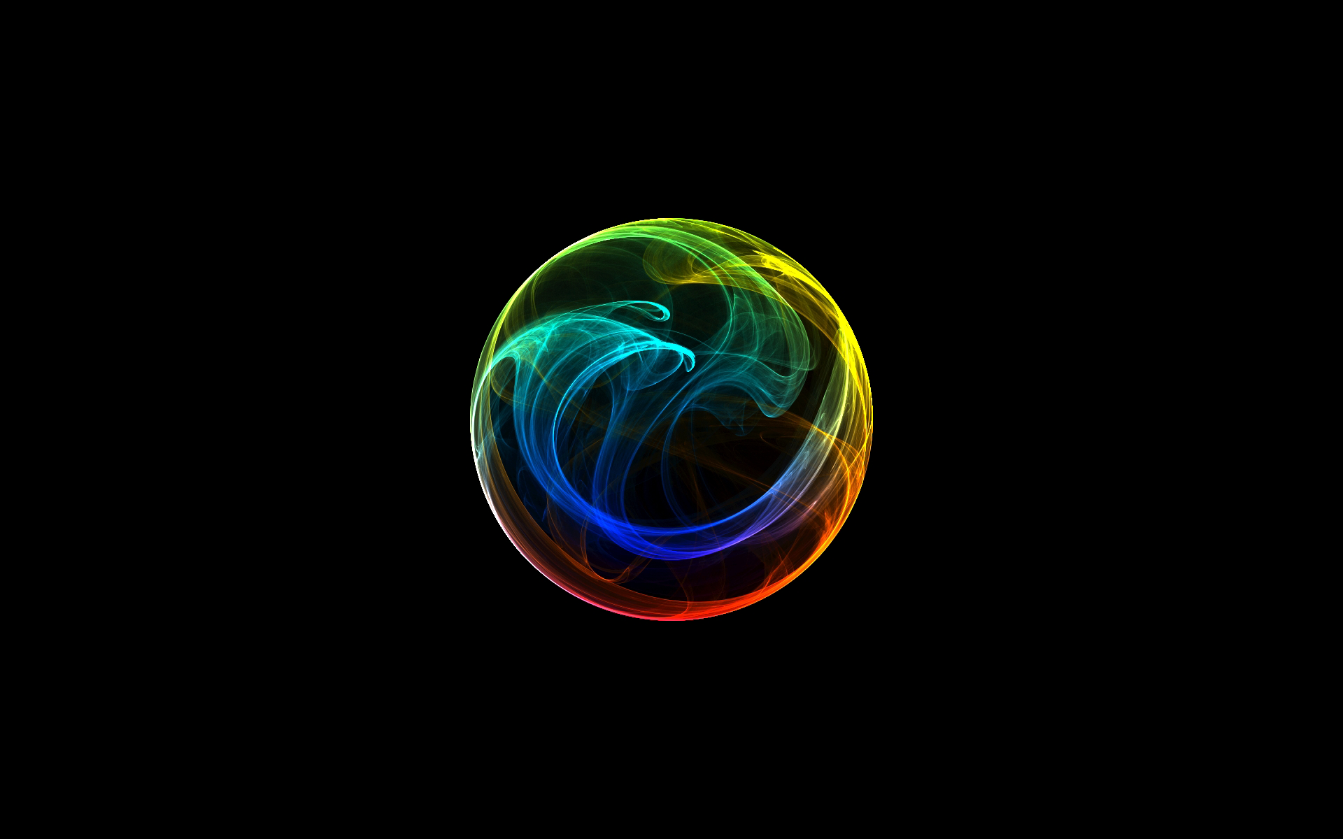 Circles rainbows black background orbs wallpaper 1920x1200 13061 1920x1200