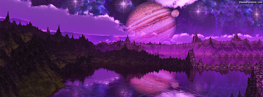 Paradox 3D Facebook Cover Violet Night 1024x768 size wallpaper 850x315