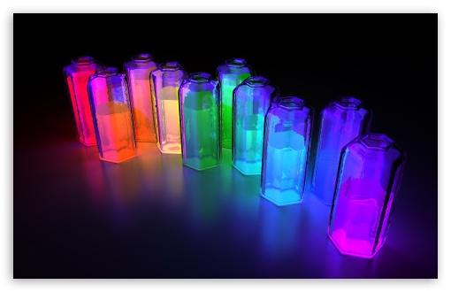 Colorful 3D Bottles HD desktop wallpaper Widescreen High 510x330