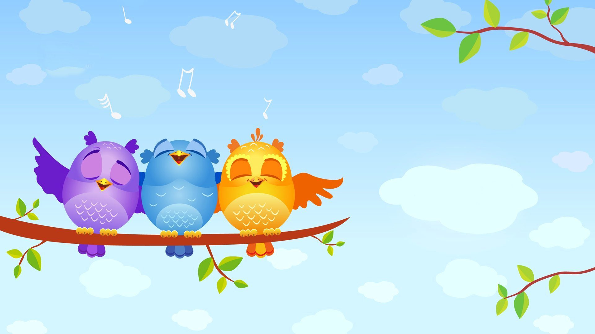 Cartoon Bird HD Wallpaper 1920x1080