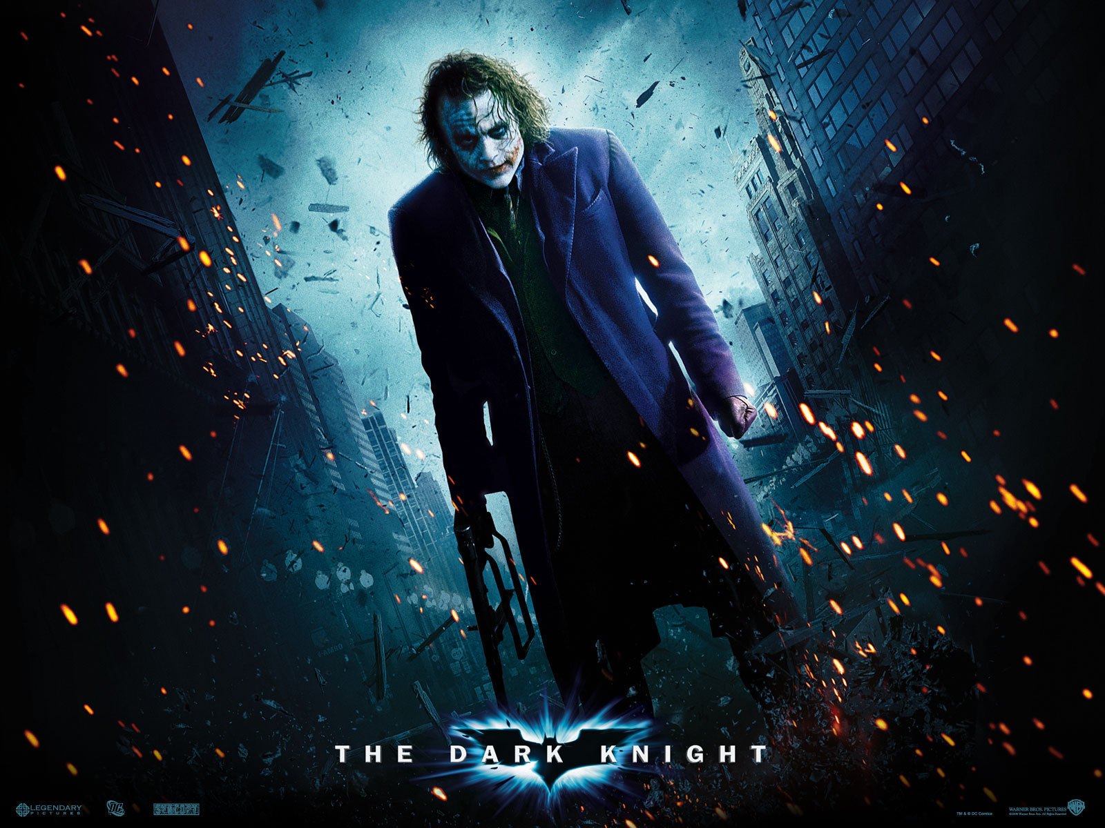 Heath Ledger as The Joker   Gotham City Wallpaper 9970933 1600x1200