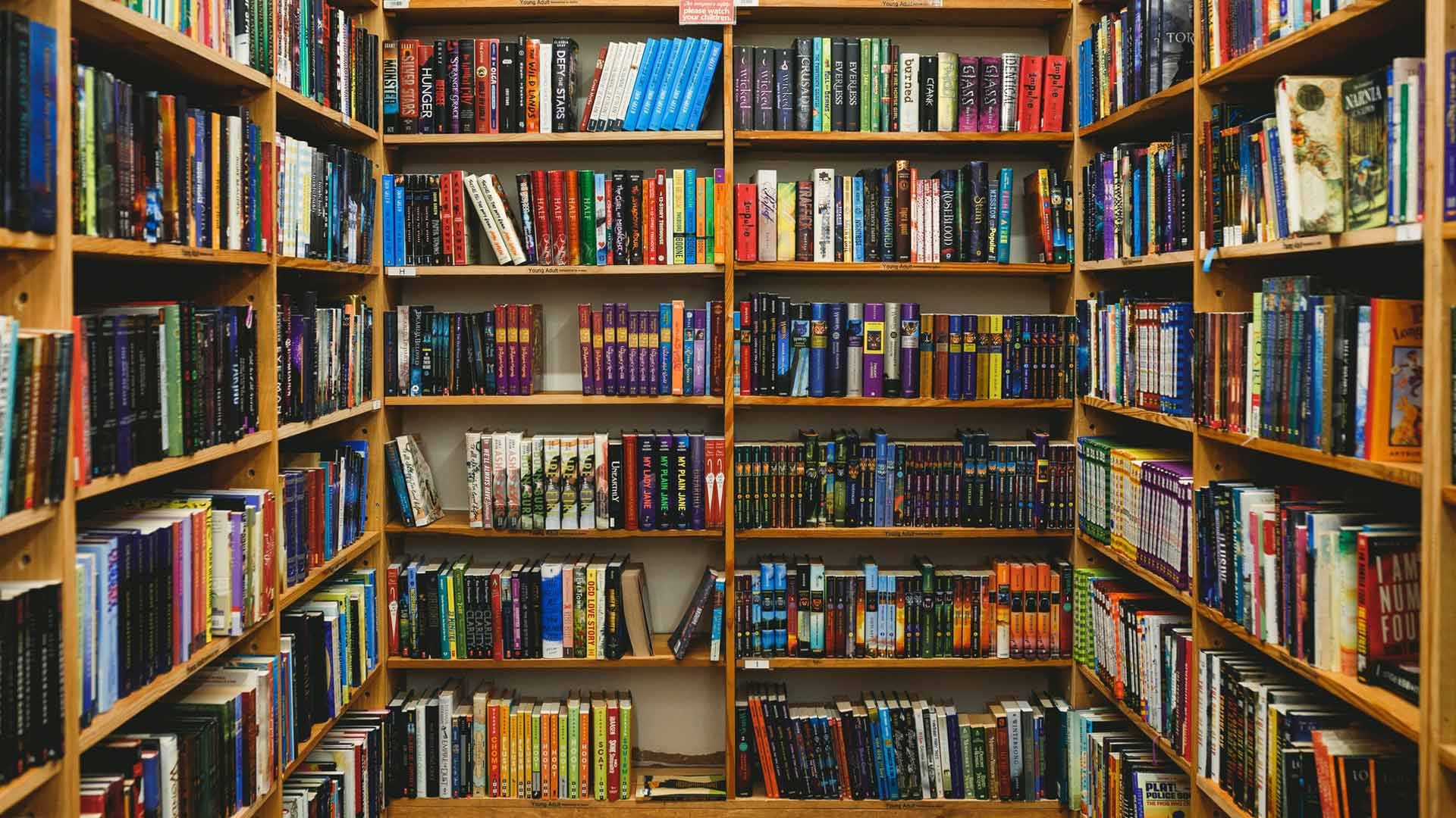 Home library Zoom background images books virtual meeting backgrounds 1920x1080