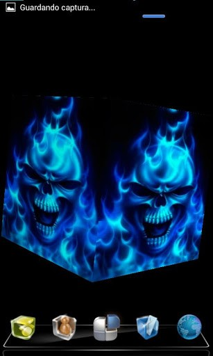 Put this live wallpaper 3D of Skull Flame on your Android phone and 307x512