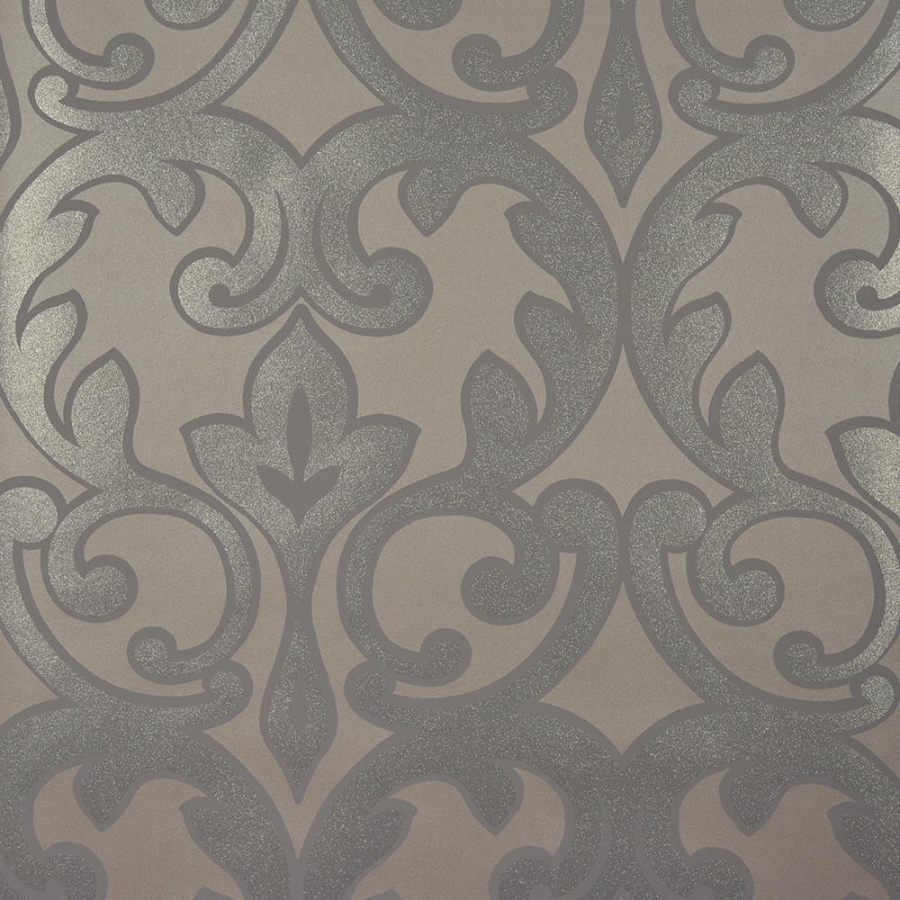 Gray silver and pewter wallpaper wallpapersafari for Grey patterned wallpaper