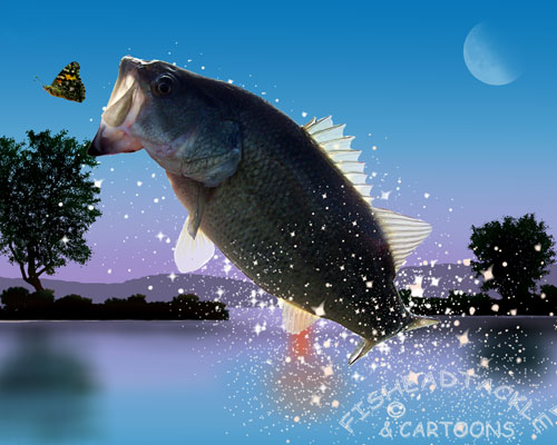 Funny Fishing Wallpaper Background Bass Cartoon   Doblelolcom 500x400