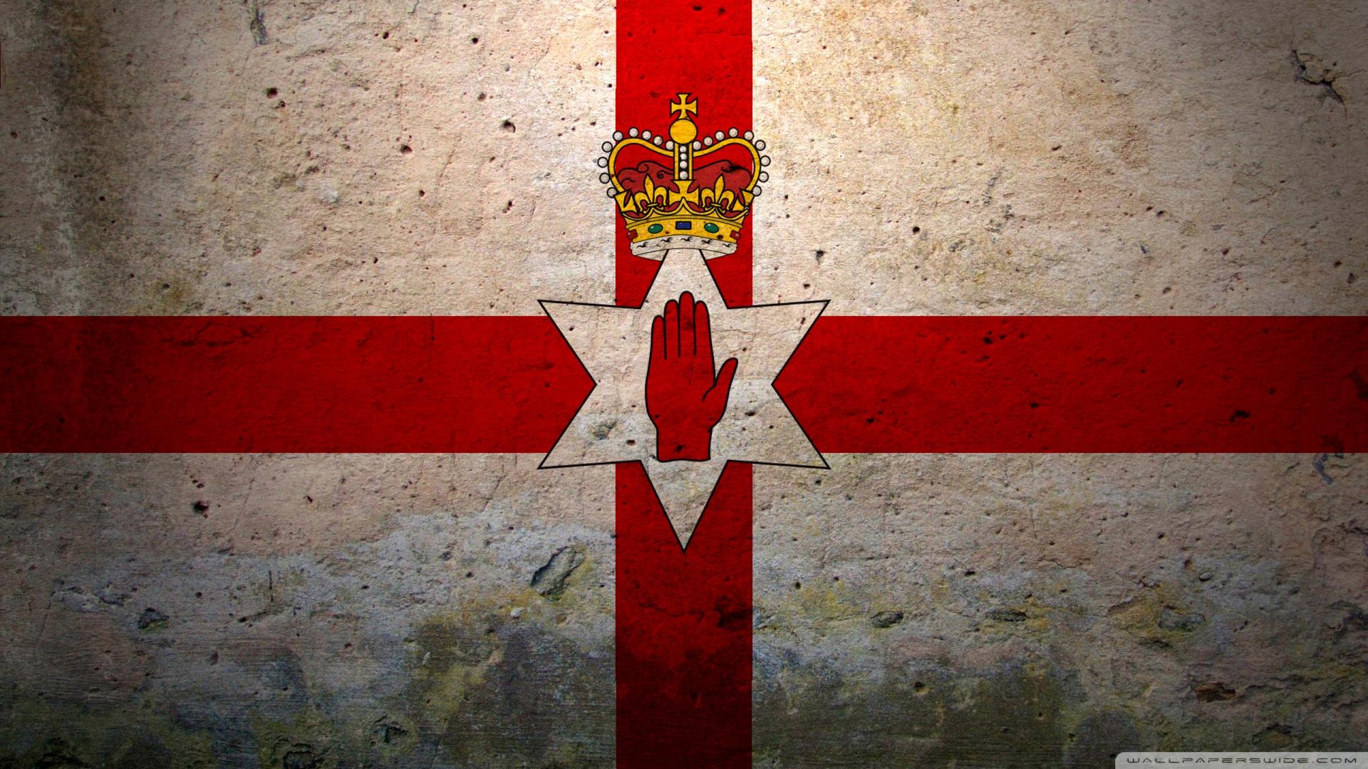 Download Grunge Flag Of Northern Ireland Wallpaper 1920x1080